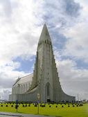 Hallgrimskirkja Church, Cathedral in Reykjavik, Iceland — Stock Photo