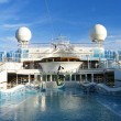 Cruise ship - Swimming pool at the upper deck  — Stock Photo