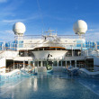 Cruise ship - Swimming pool at the upper deck — Stok fotoğraf