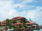 The beautiful Eden Rock hotel at St Barths, French West Indies — Stock Photo