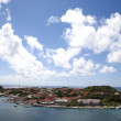 Aerial view of Gustavia Harbor at St Barts — Stock Photo