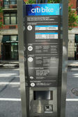 Citi bike station kiosk terminal ready for business in New York — Stock Photo