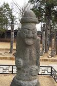 景福宮、ソウル、韓国に近い原始的な像 — ストック写真