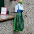 Dirndl for rent for Salzburg Festival Ball in Austria - Stock Photo