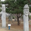 Stock Photo: Primitive statues near Gyeongbokgung Palace, Seoul, Korea