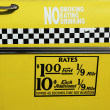 New York City taxi rates decal. This rate was in effect from April 1980 till July 1984. — Стоковая фотография
