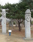 景福宮、ソウル、韓国に近い原始的な彫像 — ストック写真