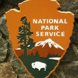 National Park Service sign at Muir Woods National Monument — Stock Photo