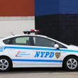 Stock Photo: NYPD traffic control vehicle in Brooklyn, NY