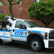 Stock Photo: NYPD tow truck in Brooklyn, NY