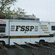 Flatbush Shomrim safety patrol mobile command center in Brooklyn - Stock Photo