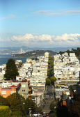 Areal view of streets of San Francisco — Stock Photo