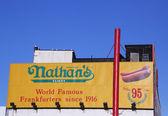 Enseigne de restaurant originale de Nathan — Photo