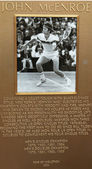 John McEnroe plaque at US Open Court of Champions at Billie Jean King National Tennis Center — Stock Photo