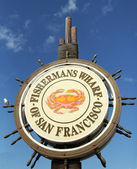 Famous Fisherman's Wharf sign in San Francisco — Stock Photo