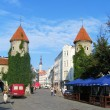 Viru Gate, entrance to the Old Town in Tallin, Estonia — Stock Photo