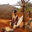 Stock Photo: Zulu Chief in Shakaland Zulu Village, South Africa