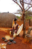Zulu Chief in Shakaland Zulu Village, South Africa — Stock Photo