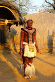 Zulu warrior in Shakaland Zulu Village, South Africa — Stock Photo