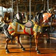 Foto de Stock  : Horses on traditional fairground carousel