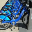 Stock Photo: Citi bike station ready for business in New York