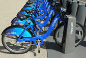 Citi bike station ready for business in New York — Stock Photo