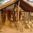 Stock Photo: Inside of Great Kraal in Shakaland Zulu Village, South Africa