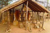 Inside of the Great Kraal in Shakaland Zulu Village, South Africa — Stock Photo