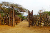 Entrance to the Great Kraal in Shakaland Zulu Village, South Africa — Stock Photo