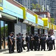 Stock Photo: NYPD officers ready to patrol streets on Memorial Day in Brooklyn, NY