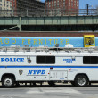 Stock Photo: NYPD mobile command post in Brooklyn, NY
