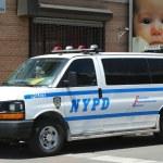 Постер, плакат: NYPD van in Brooklyn NY