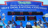 The Nathan's hot dog eating contest countdown clock — Foto Stock