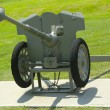 French 25 mm anti-tank gun model of 1937  at Fort Hamilton US Army base in Brooklyn — Stok fotoğraf