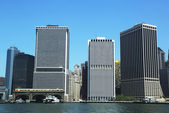 Lower Manhattan and Financial District. — Stock Photo
