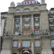 Ellert Hotel Palace entrance facing Denube river in Budapest — Stock Photo