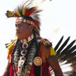 Unidentified Native American dancer at he NYC  Pow Wow in Brooklyn — Stockfoto