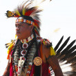 Unidentified Native American dancer at he NYC  Pow Wow in Brooklyn — Foto Stock