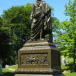Governor DeWitt  Clinton monument at Green-Wood cemetery  in Brooklyn — Stock Photo