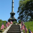 Stock Photo: Soldiers monument at Battle Hill at Green-Wood cemetery in Brooklyn