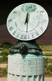Sundial clock in the front of De Young Museum — Stock Photo