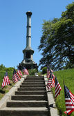 Soldiers monument at the Battle Hill at the Green-Wood cemetery in Brooklyn — Stock Photo