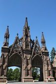 Green-Wood cemetery gates in Brooklyn — Stock Photo