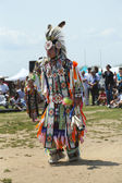 Unidentified young Native American dancer at the NYC Pow Wow in Brooklyn — Stock Photo