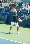Professional tennis player Carlos Moya practices for US Open — Stock Photo