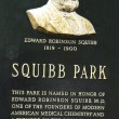 Dr. Edward Squibb memorial at Squibb Park in Brooklyn — Stock Photo #27143839