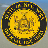 New York State official use only sign placed on the state vehicle — Stock Photo