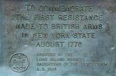 Mémorial de guerre d'indépendance dans la région de bay ridge de brooklyn — Photo