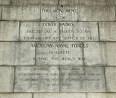 Signo de monumento de patrulla de dover en fort hamilton en brooklyn — Foto de Stock