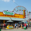 The Nathan s reopened after damage by Hurricane Sandy  at Coney Island Boardwalk — Stock Photo